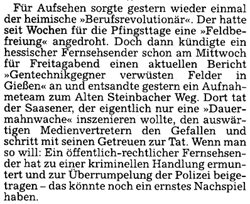 Vorabtext in Presse