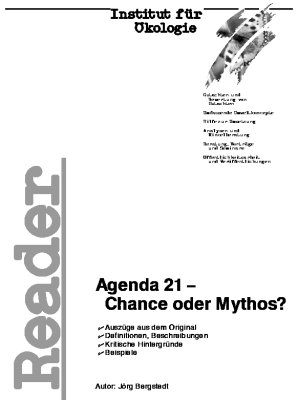 Reader 'Agenda 21 - Chance oder Mythos?'